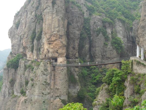 耗时50 分钟终于到达了铁索桥,看到我爬山的汗水了吗?