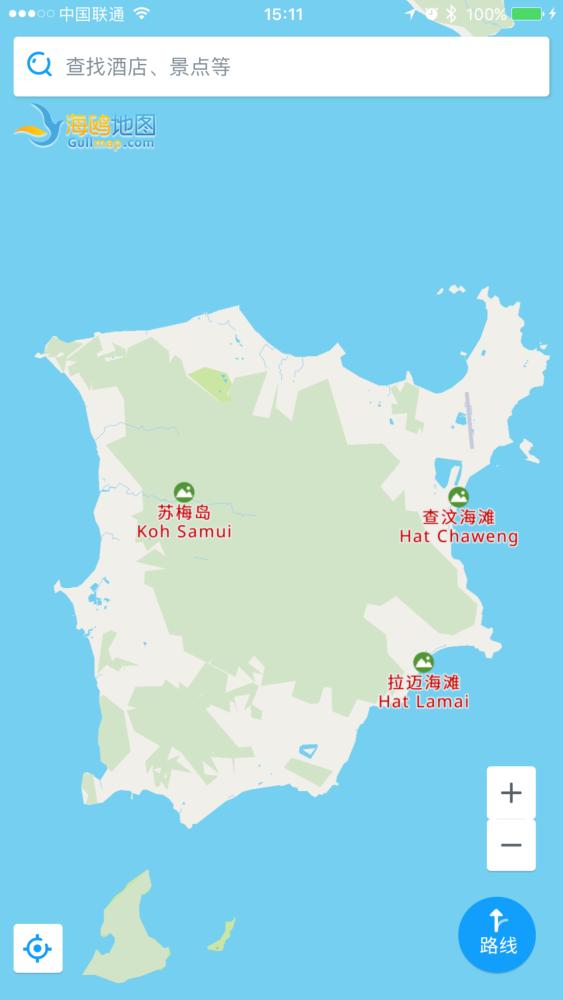 苏梅岛地图最好是中文版的.要app .