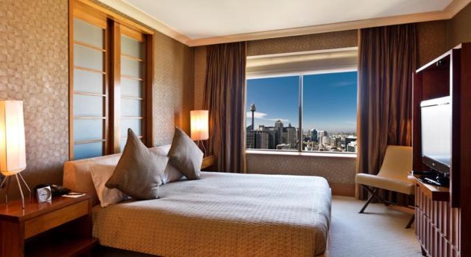 我很喜欢这家酒店房间的设计风格