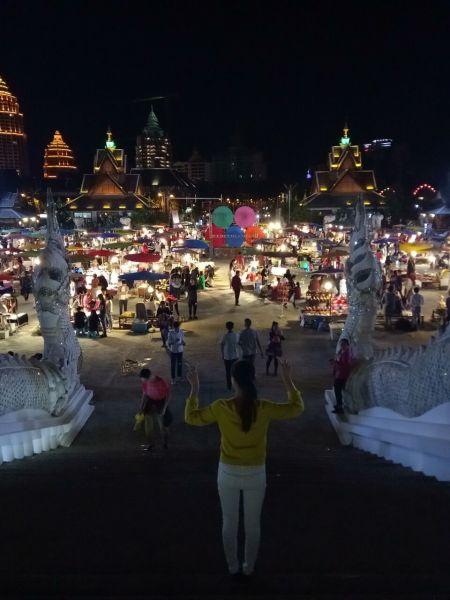 东南亚夜晚风景贴图