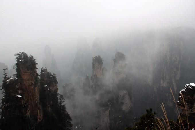 行冲薄薄轻轻雾,看放重重叠叠山----别样张家界自助游
