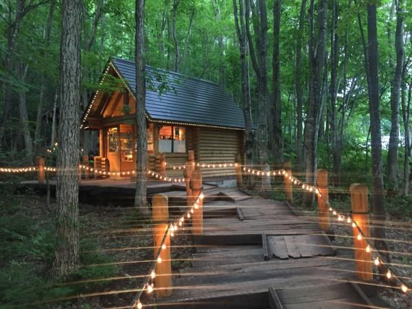漫步在丛林的小木屋间,听着木桥地下潺潺的流水声,仿佛真的有精灵