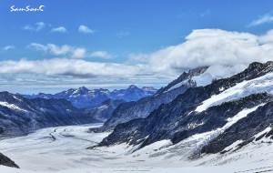 【少女峰图片】瑞士少女峰之巅 7月雪山(附:魯達本納火車站的時刻表)