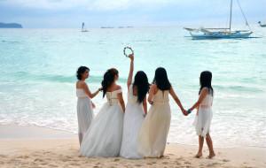 【薄荷岛图片】婚纱飘逸白沙滩——菲律宾长滩岛、宿雾、薄荷岛十日游