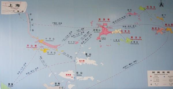 首先先上一张总平面图,介绍上海和嵊泗,枸杞,嵊山等几个