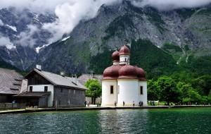 【贝希特斯加登图片】德国游--阿尔卑斯山,蔚蓝如镜的国王湖