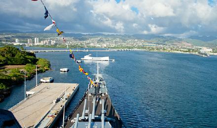 夏威夷欧胡岛珍珠港 伊哦拉尼皇宫 亚利桑那号战舰纪念馆半日游