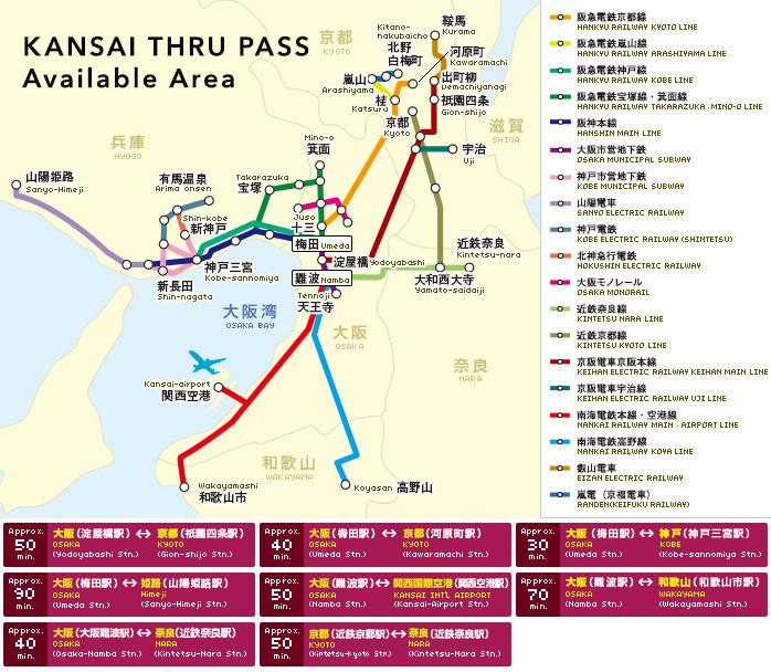 d4 京都   京都巴士1日劵 500元  d5京都-机场  icoca公交卡