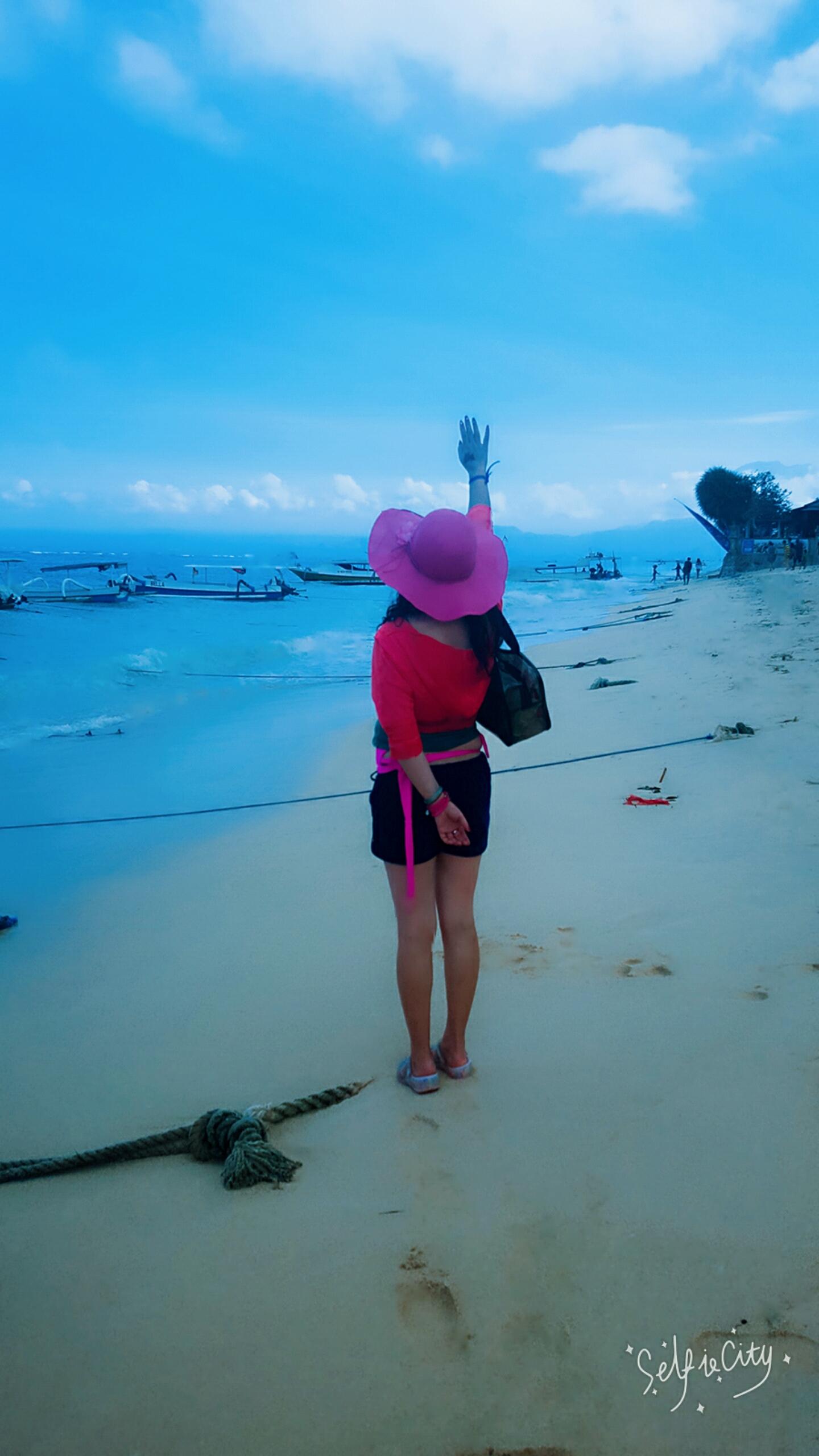 印尼蓝梦岛海边拍摄!