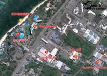 阳光花园酒店在塞班的卫星地图